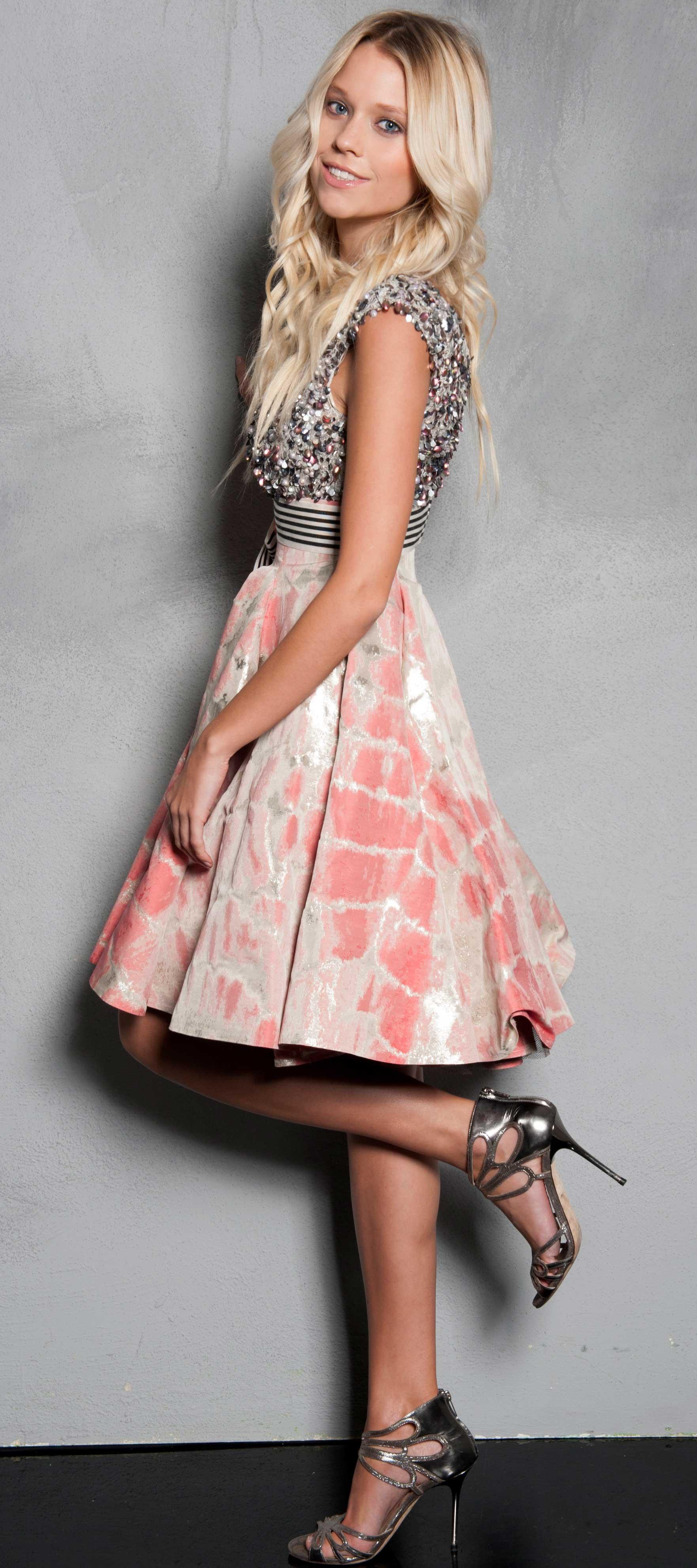 Gemustertes Petticoat-Kleid