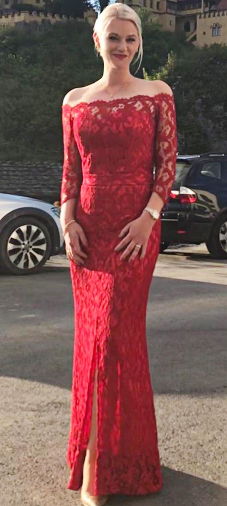 Kathrin´s Kleid aus Spitze