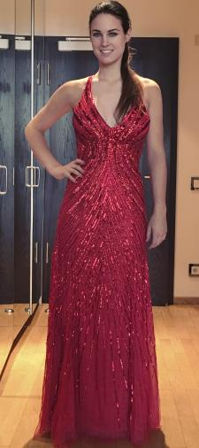 Sonja´s Abendkleid in Rot