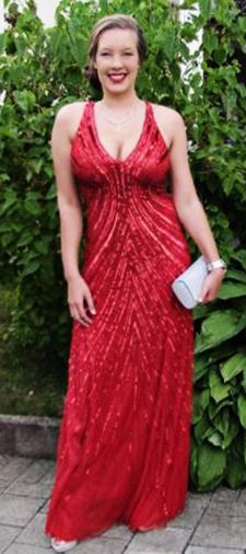 Anna's Trägerkleid in Rot