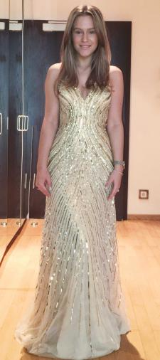 Yasemin´s Kleid in Gold