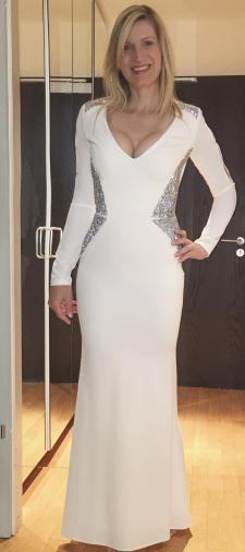 Claudia´s Abendkleid in Weiss