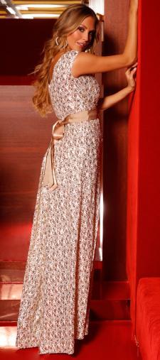 Maria´s Kleid in Gold-Weiss