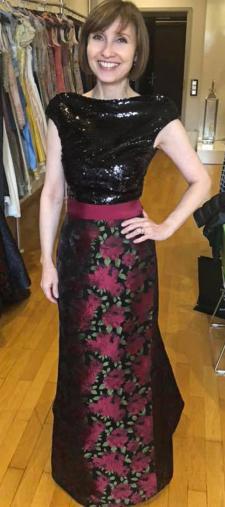 Jana´s Kleid mit Rosenmuster