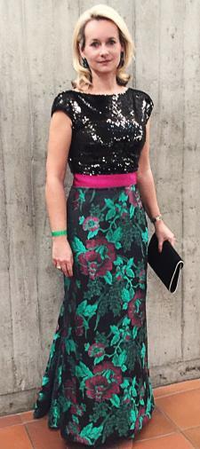 Pia´s Kleid in Gruen-Pink