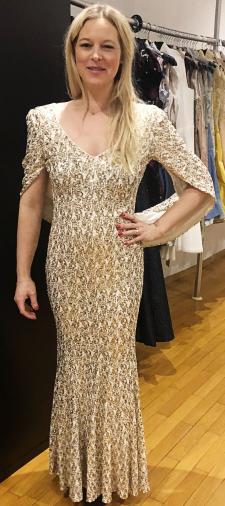 Nadine´s Kleid in Gold-Weiss