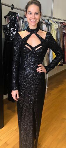 Julia´s Kleid aus schwarzen Pailletten