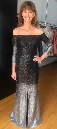 Lucia´s Kleid mit Carmenausschnitt