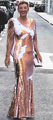 Dorothee´s Kleid mit Wendepailletten