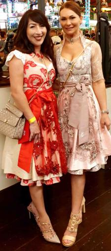 Kristi Dirndl in Rot-Rosé