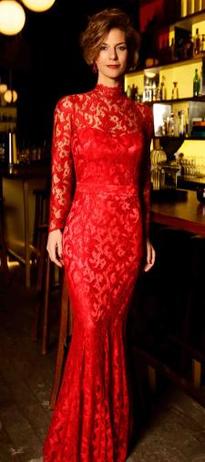Sarah´s Dress in Rot