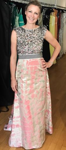 Julia´s Kleid mit Paillettentop