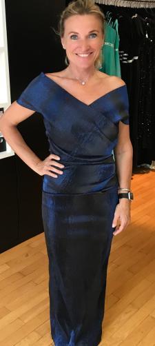 Elisabeth´s Abendkleid in Blau/Schwarz