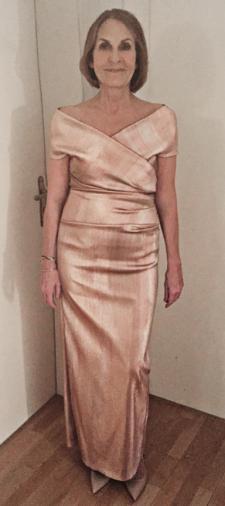 Gabriela´s Metallic-Kleid
