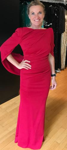 Elisabeth´s rotes Abendkleid