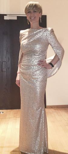 Sabine´s Paillettenkleid in Gold