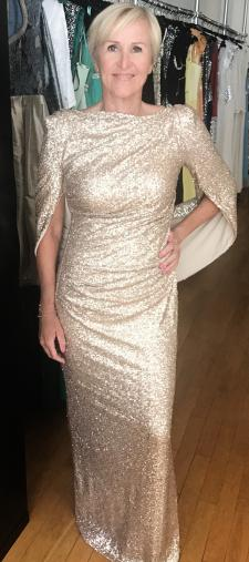 Ursula´s Paillettenkleid in Gold