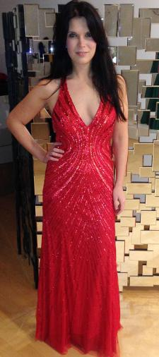 Christina´s rotes Paillettenkleid