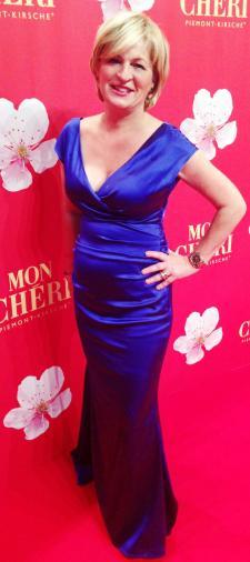 Claudia´s Kleid in Stahlblau