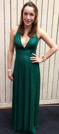 Frederike´s grünes Paillettenkleid