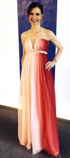 Sonya's Corsagenkleid mit Farbverlauf